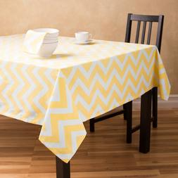 Polyester Chevron Tablecloth Square 72 Inch By Broward Linen
