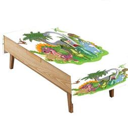 PINAFORE Table in Washable Polyester Cartoon Group Dinosaur