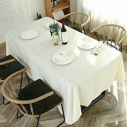 LINENLUX Polyester Tablecloth Rectangle Table