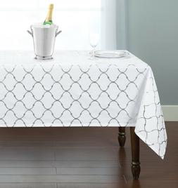 Premium Metallic Lattice Designed Fabric Tablecloth - Assort