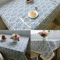 Rectangular Tablecloth Table Cloth Cover Dinner Home Kitchen