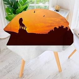 Printed Pattern Washable Table Cloth -Disney's The Lion King