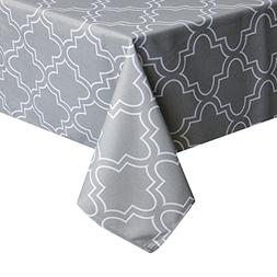 UFRIDAY Printed Tablecloths for Rectangle Tables, Light Grey