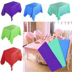 Pure Party Birthday Table Cloth Disposable Plastic Table Cov