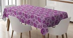 Purple Color Tablecloth Ambesonne 3 Sizes Rectangular Table