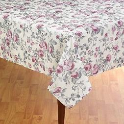 purple floral table cloth polyester fabric 52