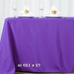 "Efavormart 72x120"" PURPLE Wholesale Linens Polyester Tablecl"