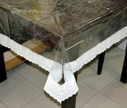 pvc 4 seater transparent center table cloth