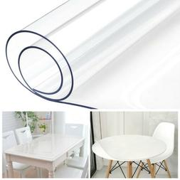 PVC Clear Table Cover Waterproof Tablecloth Transparent Desk