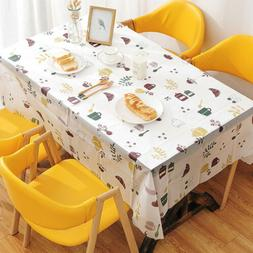 PVC WATERPROOF OIL-PROOF Table Cloth Cover Rectangular for D