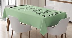Ambesonne Quote Tablecloth, Dress Hanger with a Tiny Bow Tie