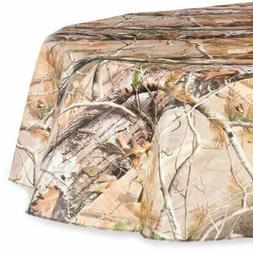 DII Real Tree Peva Tablecloth with Flannel Backing for Indoo