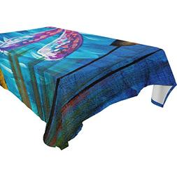 ALIREA Rectangle Dragonfly Pond Tablecloth for Wedding Party