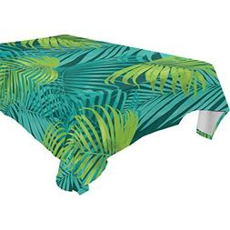 ALIREA Rectangle Leaf Tropical Pattern Tablecloth for Weddin