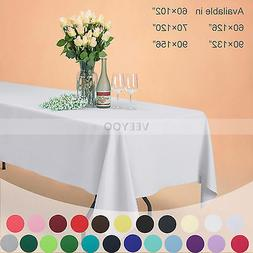 VEEYOO Rectangle Polyester Tablecloth Table Cover For Weddin