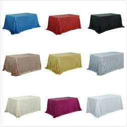 Rectangle/Square Sequin Tablecloth Shimmer Table Cloth Weddi