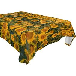 ALIREA Rectangle Sunflowers Tablecloth for Wedding Party Hol