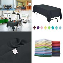 Rectangle Table Cloth Solid Color Polyester Tablecloth For B