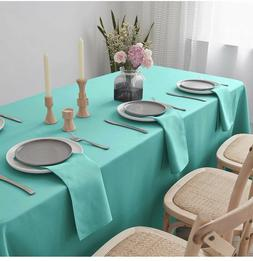 VEEYOO Rectangle Tablecloth - 70 x 120 Inch Polyester Table