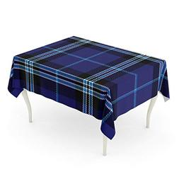 Emvency Rectangle Tablecloth 60 x 84 Inch Blue Large of Tart