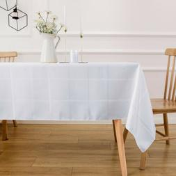 VEEYOO Rectangle Tablecloth Poly Table Cover for Wedding Par