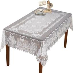 Rectangle Tablecloth White Vintage Lace Table Cloth Valentin