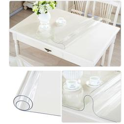 rectangle waterproof pvc clear transparent tablecloth table