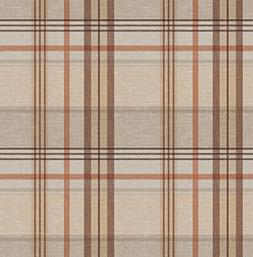 Qute Home 55 x 70-inch Rectangle Tablecloth | Stripes Brown