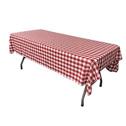 Rectangular Checkered Tablecloth 60x120 Inches  By Runner Li
