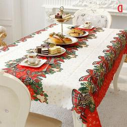 rectangular christmas tablecloth table cloth xmas new