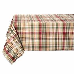 """Cabin Plaid Square Tablecloth, 100% Cotton with 1/2"""" Hem"""