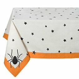 "DII 60x104"" Rectangular Cotton Tablecloth, Black Stars - Per"