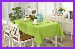 Rectangular Fabric Table Cloth Rectangle Washable Dinner Pic