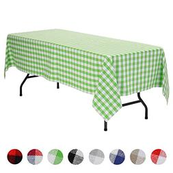 VEEYOO Rectangular Plaid Check Tablecloth Gingham 100% Cotto