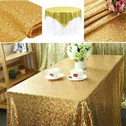 Rectangular Sequin Tablecloth Table Cloth Wedding Party Deco