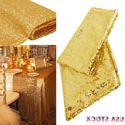 Rectangular Sequin Tablecloth Table Cloth Wedding Party Banq