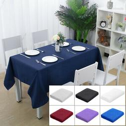 Rectangular Tablecloth 100% Polyester Oblong Table Cloth Sol