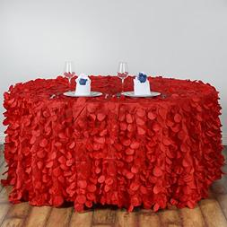 """Efavormart 120"""" Red Round Flamingo Petals Tablecloth For Wed"""