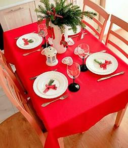 AHOLTA DESIGN RED Tablecloth Christmas Table