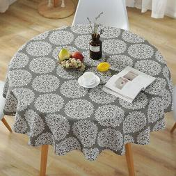 Retro Table Cover Party Tablecloth Round Cotton Covers Cloth