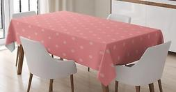 Rose Color Tablecloth Ambesonne 3 Sizes Rectangular Table Co