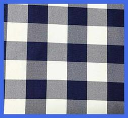 GFCC Round Check Polyester Tablecloth Royal BLUE & WHITE 90