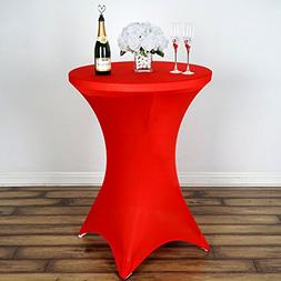 round cocktail spandex fitted tablecloth