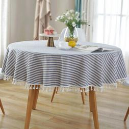round colorful tassel table cloth cotton household