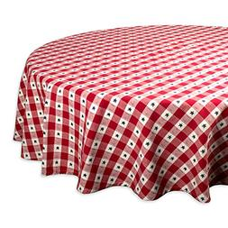 DII Round Cotton Tablecloth for Independence Day, July 4th P