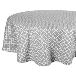 DII Round Lattice Cotton Tablecloth for Weddings, Picnics, S