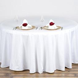 """Efavormart 90"""" Round Linens WHITE Wholesale Linens Polyester"""