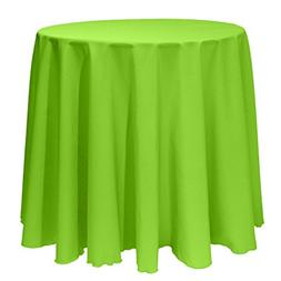 Ultimate Textile 120-Inch Round Polyester Linen Tablecloth L
