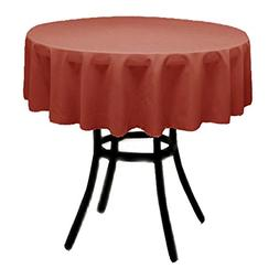 Runner Linens Factory Round Polyester Tablecloth 45 Inch Mul