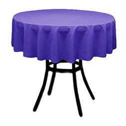 Runner Linens Factory Round Polyester Tablecloth 36 Inch Mul